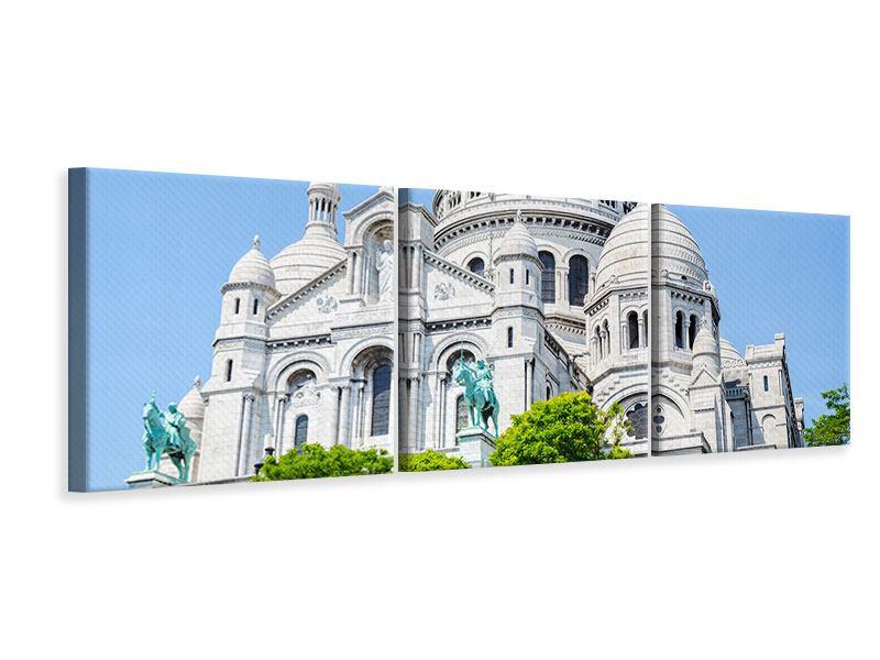 Panorama Leinwandbild 3-teilig Paris- Montmartre
