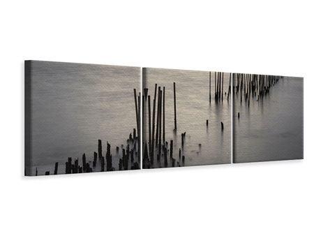 Panorama Leinwandbild 3-teilig Das Meer und die Träne