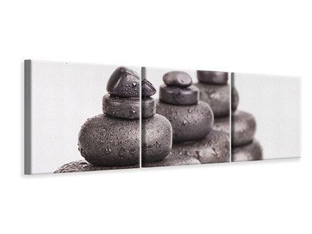 Panorama Leinwandbild 3-teilig Die Kraft der Steine