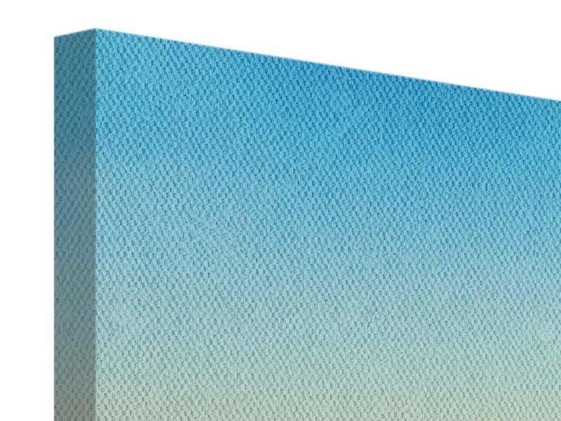 Panorama Leinwandbild 3-teilig Dämmerung über den Wolken