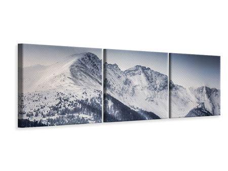 Panorama Leinwandbild 3-teilig Die Berge der Schweiz
