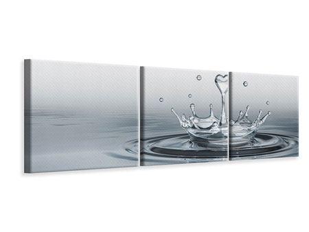 Panorama Leinwandbild 3-teilig Wasserfigur