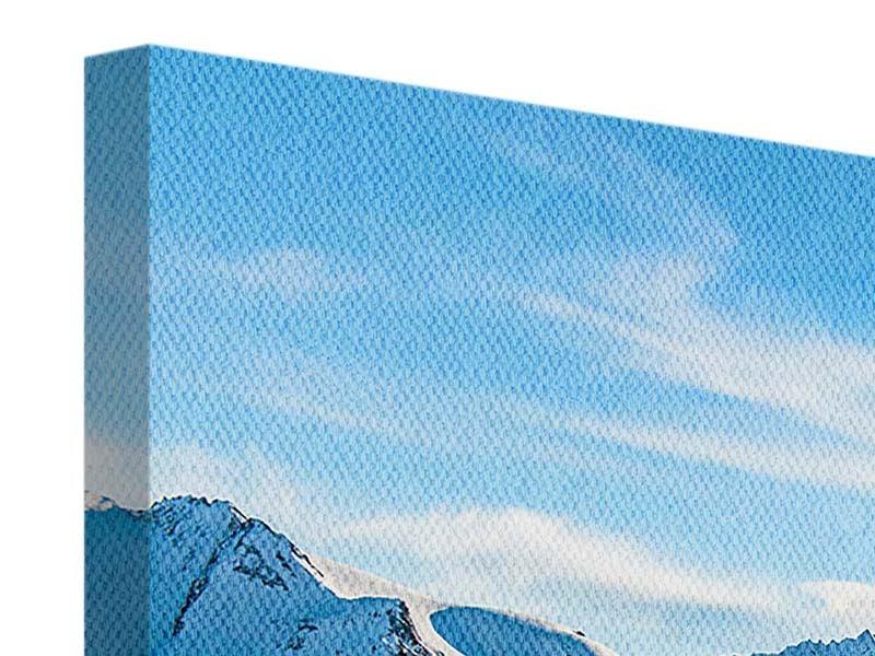 Panorama Leinwandbild 3-teilig Sonnenaufgang in den Bergen