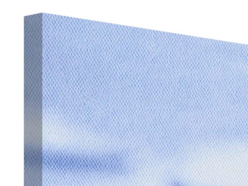 Panorama Leinwandbild 3-teilig Eiswürfel