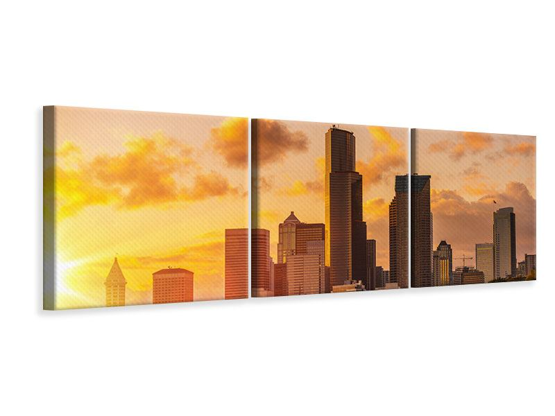 Panorama Leinwandbild 3-teilig Skyline Washington