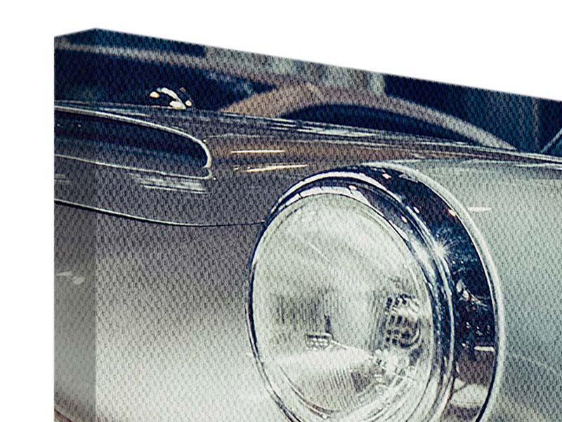 Panorama Leinwandbild 3-teilig Classic Car