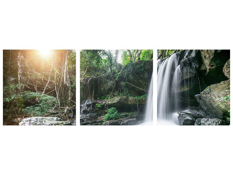 Panorama Leinwandbild 3-teilig Naturschauspiel