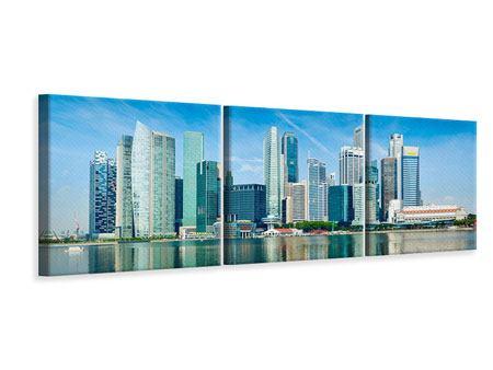 Panorama Leinwandbild 3-teilig Skyline Mexiko-Stadt
