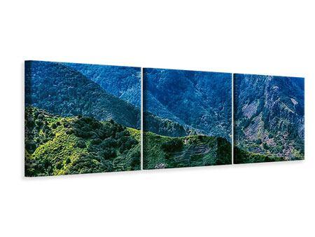 Panorama Leinwandbild 3-teilig Die Berglandschaft