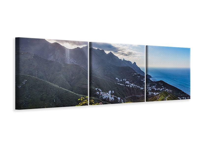 Panorama Leinwandbild 3-teilig Der Frühling in den Bergen