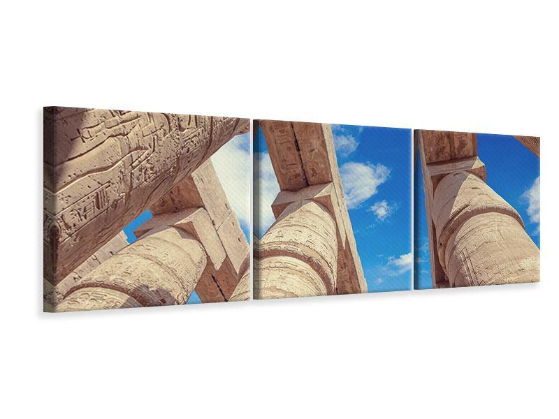 Panorama Leinwandbild 3-teilig Tempelsäulen