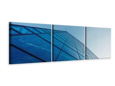 Panorama Leinwandbild 3-teilig Wolkenkratzer-Highlight