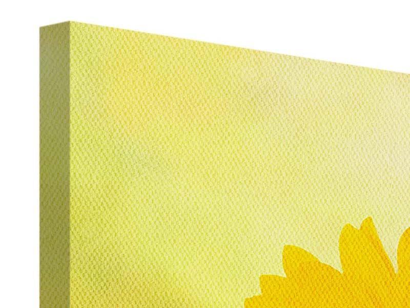 Panorama Leinwandbild 3-teilig Die Sonnenblume