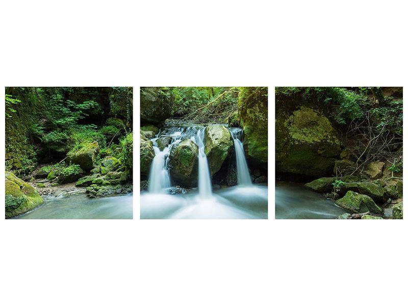 Panorama Leinwandbild 3-teilig Wasserspiegelungen