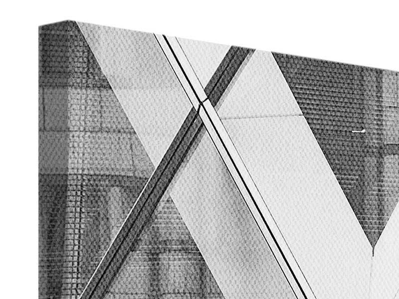 Panorama Leinwandbild 3-teilig Teil eines Wolkenkratzers