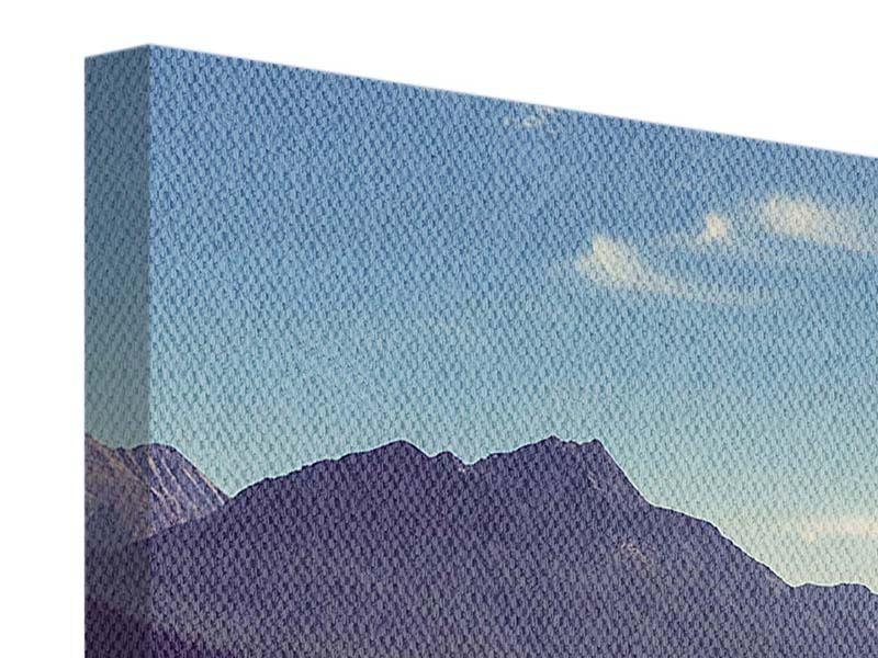 Panorama Leinwandbild 3-teilig Bergspiegelung