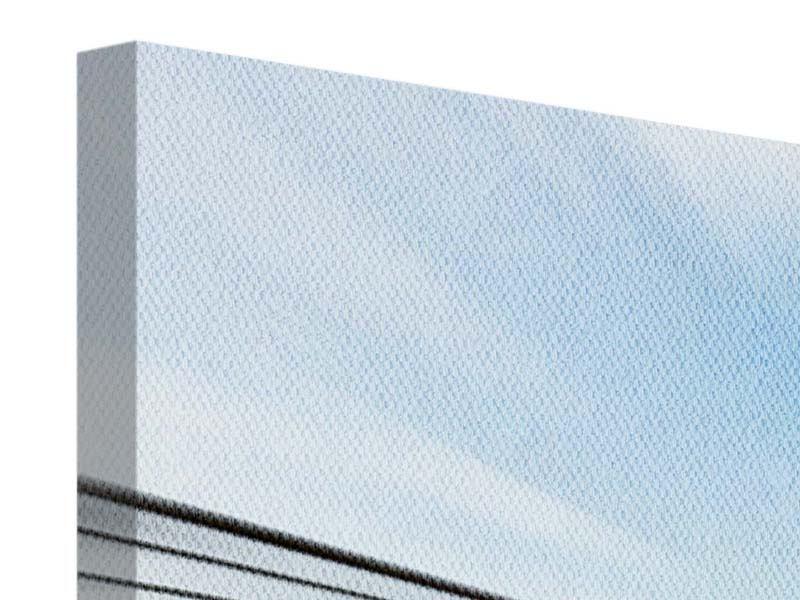 Panorama Leinwandbild 3-teilig Rennwagen