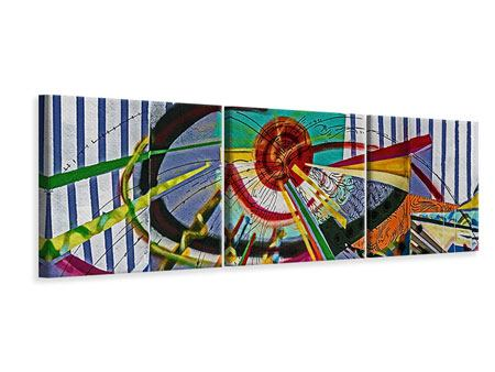 Panorama Leinwandbild 3-teilig Künstlerisches Graffiti