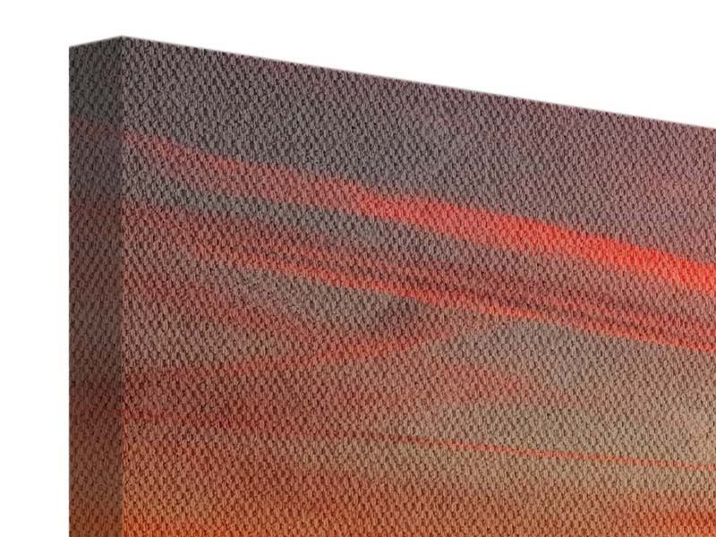 Panorama Leinwandbild 3-teilig Der Sonnenuntergang