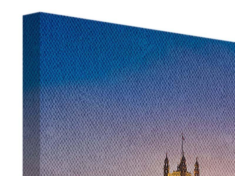 Panorama Leinwandbild 3-teilig Big Ben in der Nacht