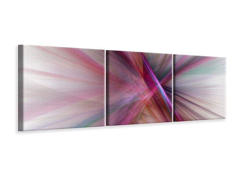 Panorama Leinwandbild 3-teilig Abstraktes Lichterleuchten