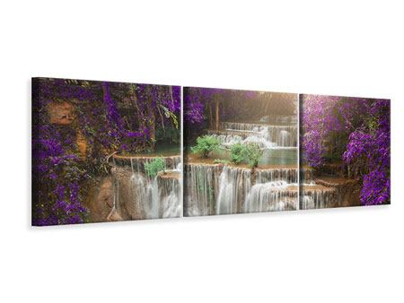 Panorama Leinwandbild 3-teilig Garten Eden