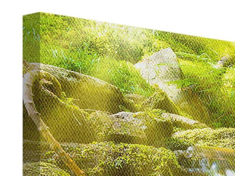 Panorama Leinwandbild 3-teilig Schönheit des fallenden Wassers