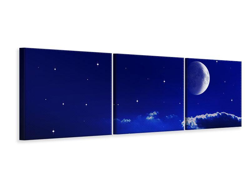 Panorama Leinwandbild 3-teilig Der Nachthimmel