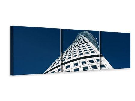 Panorama Leinwandbild 3-teilig Meisterstück Wolkenkratzer