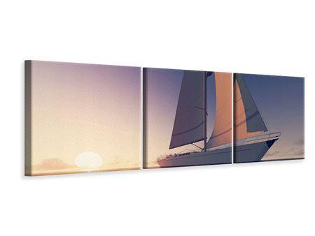Panorama Leinwandbild 3-teilig Das Segelschiff