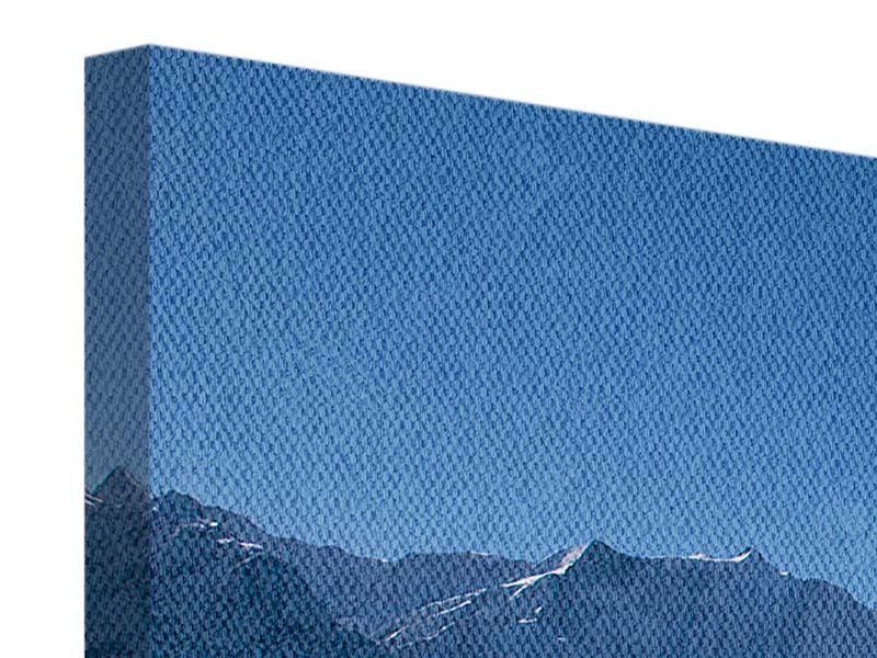 Panorama Leinwandbild 3-teilig Sonnenterrasse in den Schweizer Alpen