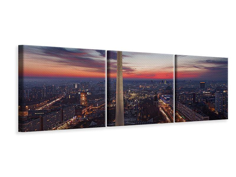 Panorama Leinwandbild 3-teilig Berlin