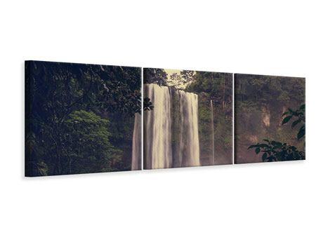 Panorama Leinwandbild 3-teilig Wasserfall in Mexiko