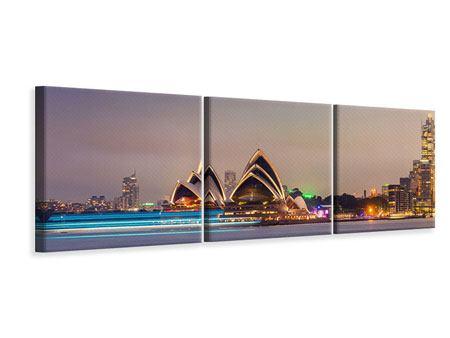 Panorama Leinwandbild 3-teilig Opera House