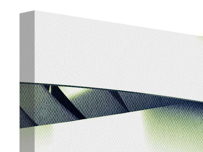 Panorama Leinwandbild 3-teilig Abstrakte Perspektiven