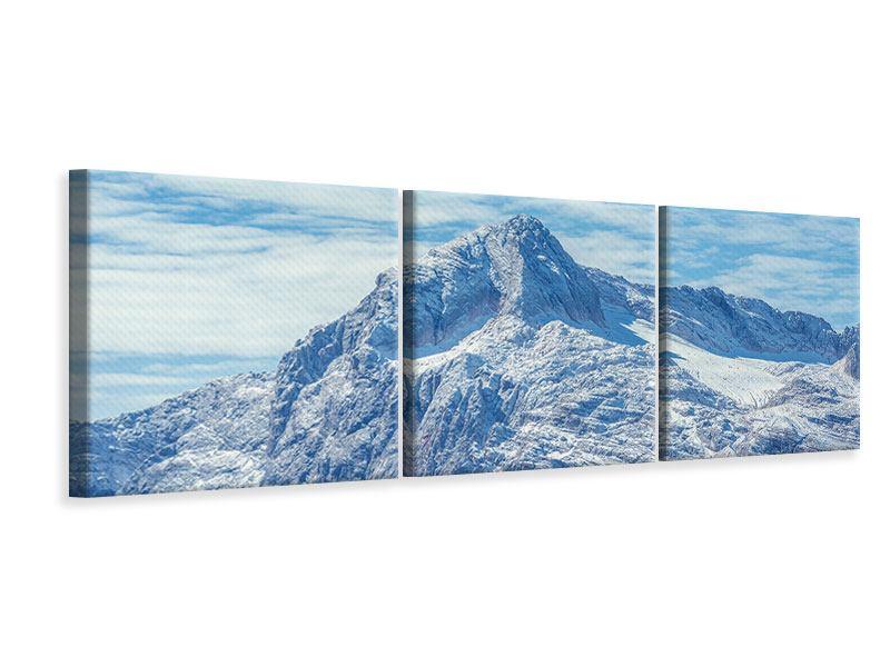 Panorama Leinwandbild 3-teilig Friedliche Bergstimmung
