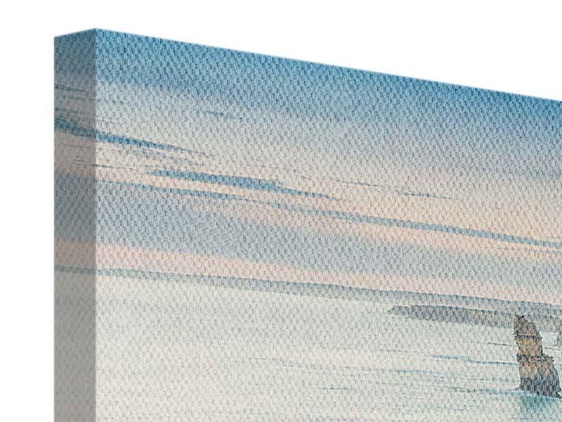 Panorama Leinwandbild 3-teilig Felsklippen
