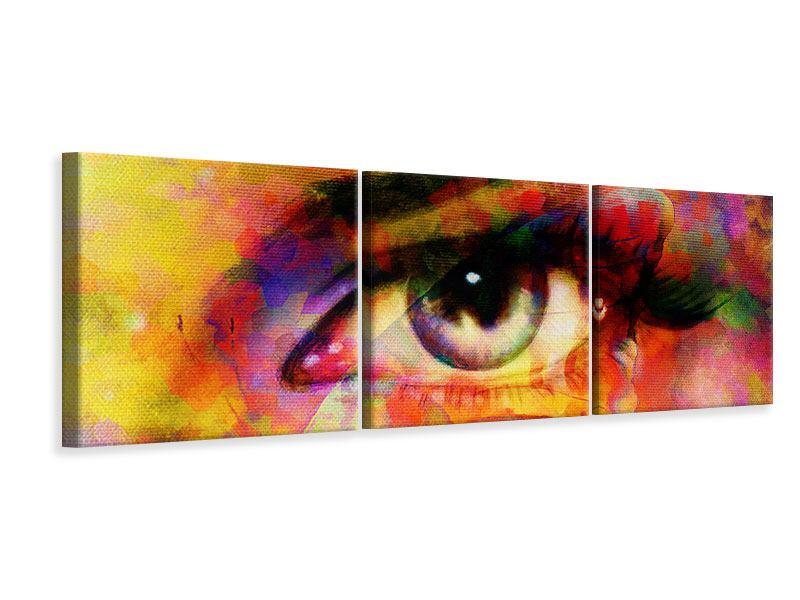 Panorama Leinwandbild 3-teilig Das Auge