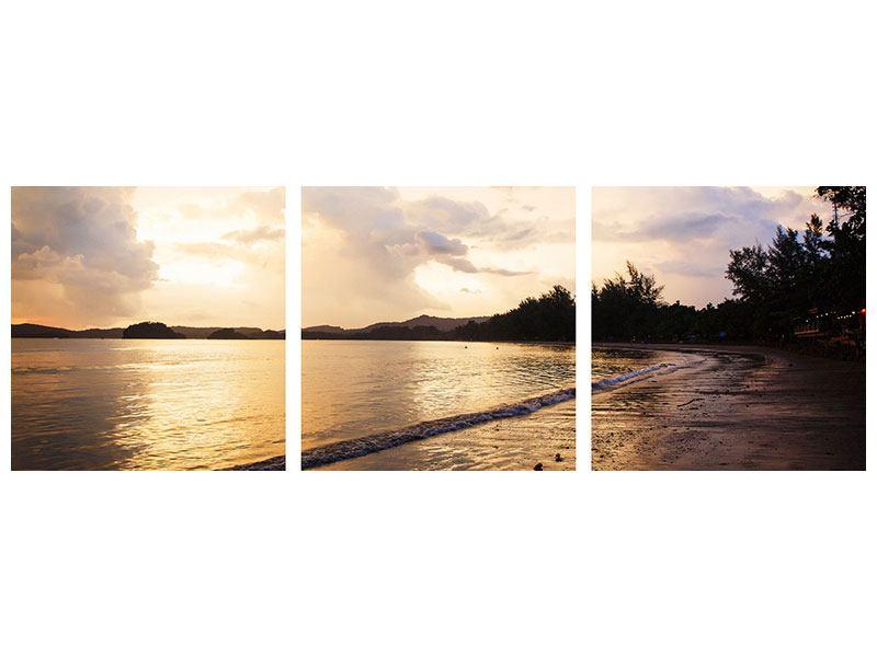 Panorama Leinwandbild 3-teilig Das Ufer