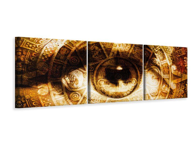 Panorama Leinwandbild 3-teilig Fraktales Auge