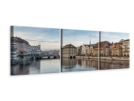 Panorama Leinwandbild 3-teilig Kosmopolitisches Zürich
