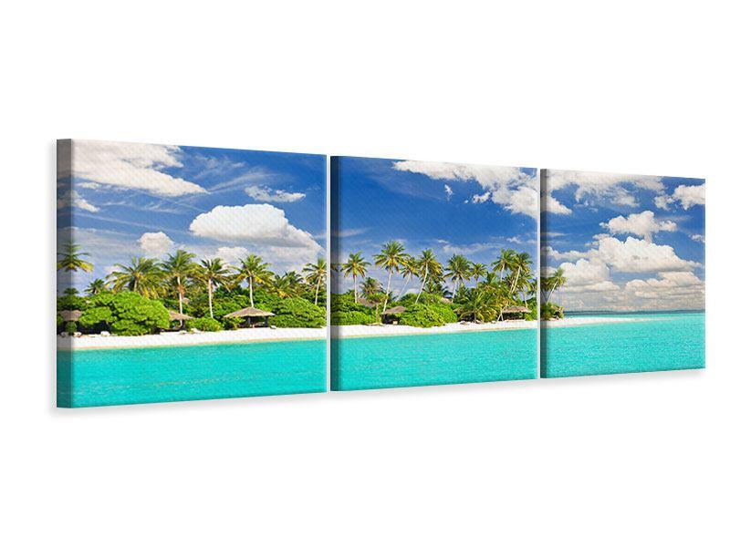Panorama Leinwandbild 3-teilig Meine Insel
