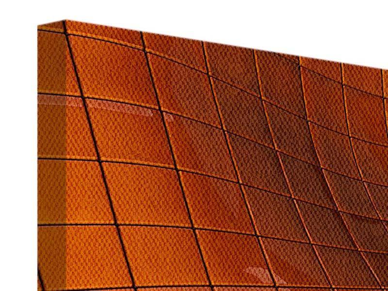 Panorama Leinwandbild 3-teilig 3D-Kacheln