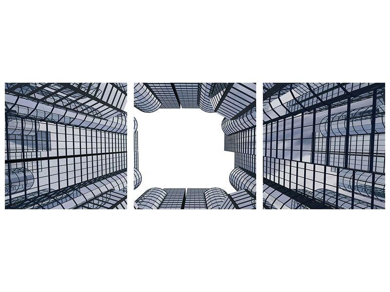 Panorama Leinwandbild 3-teilig Besondere Perspektive