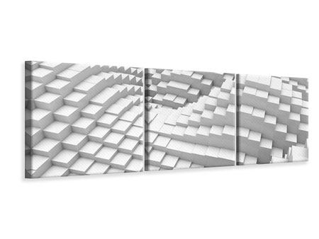 Panorama Leinwandbild 3-teilig 3D-Elemente