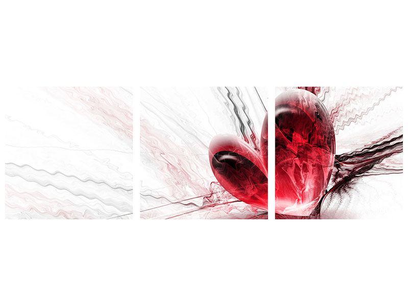 Panorama Leinwandbild 3-teilig Herzspiegelung