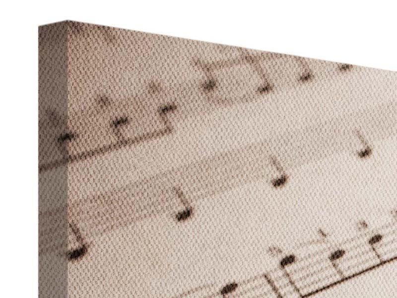 Panorama Leinwandbild 3-teilig Das Notenblatt