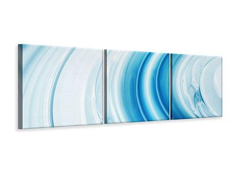 Panorama Leinwandbild 3-teilig Abstraktes Glas