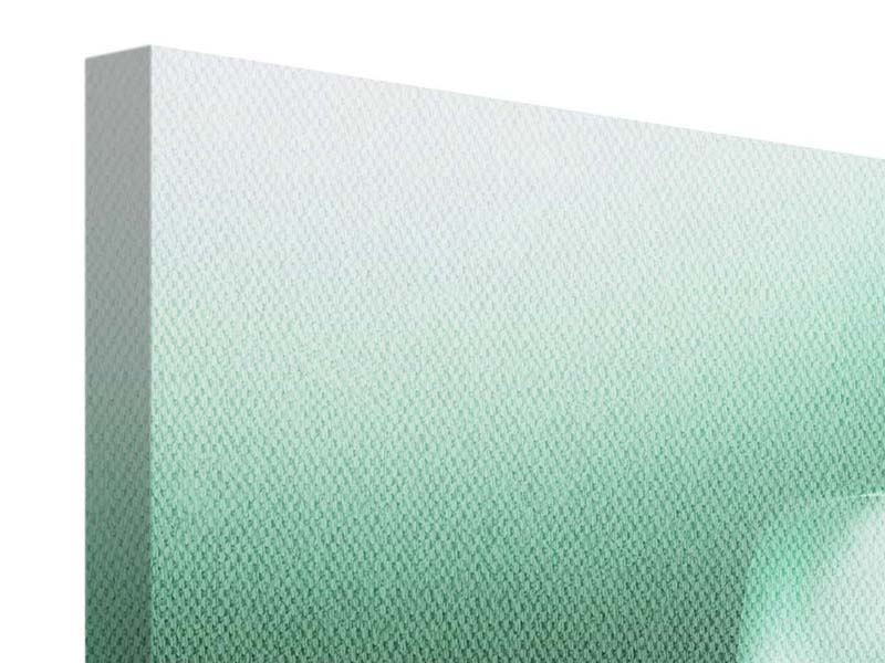 Panorama Leinwandbild 3-teilig Abstrakt Tuchfühlung
