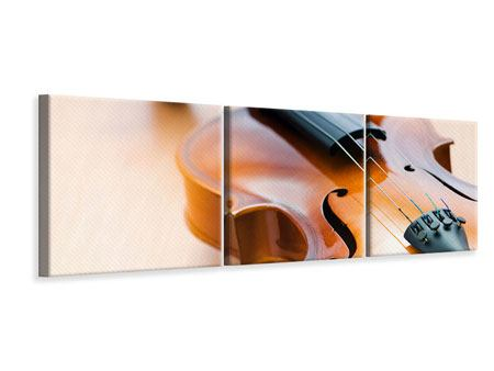 Panorama Leinwandbild 3-teilig Geige